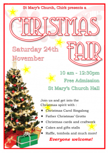 St Mary's Christmas Fair Poster. Saturday 24th Nov 10am